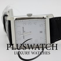 Baume & Mercier Hampton Rectangular Silver Dial Black...