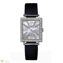 Piaget Altiplano 18K White Gold Leather Diamonds Ladies Watch