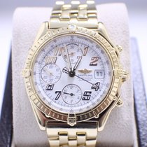Breitling Windrider Chronomat 18K Yellow Gold White Dial