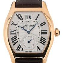 Cartier Tortue Rose Gold Blue Hands