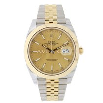 Rolex DATEJUST 41mm Steel & 18K Yellow Gold Watch Jubilee...