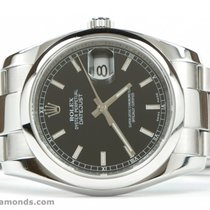 Rolex Datejust 116200 Black Stick Dial 36mm Stainless Steel...