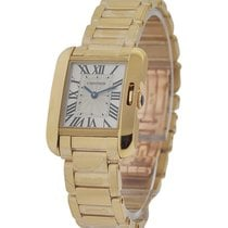 Cartier W5310014 Tank Anglaise Small Model - Yellow Gold on...