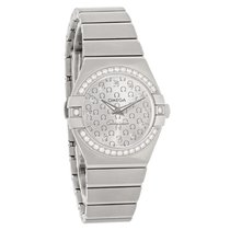 Omega Constellation Ladies Diamond Swiss Watch 123.15.27.60.52...