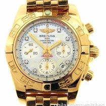 Breitling Chronomat 41 HB014012/A723 18k Rose Gold White MOP...
