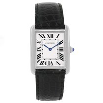 Cartier Tank Solo Silver Roman Dial Quartz Ladies Watch W1018255