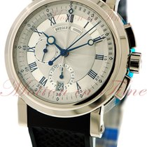 Breguet Marine II Chronograph, Silver Dial - White Gold on Strap