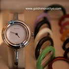 Gucci Silver Luxury watch for women, BEZEL CHANGES COLORS