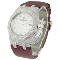 Audemars Piguet Lady's White Gold Royal Oak Diamond Case