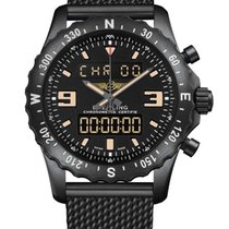 Breitling Chronospace Black PVD Stainless Steel Men's Watch