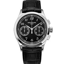 Patek Philippe Complications Black Dial 18K White Gold...