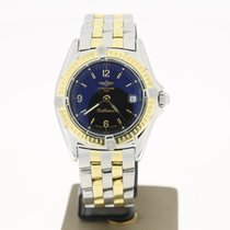 Breitling Callistino Full Steel/Gold (BOX2001) 28mm Black Dial...