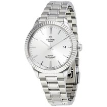 Tudor Style Silver Dial Automatic Men's Stainless Steel Watch