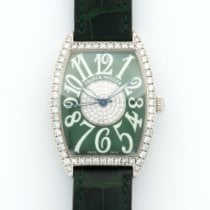 Franck Muller White Gold Cintree Curvex Diamond Wawtch Ref....