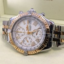 Breitling Crosswind Pilot Gold Steel White Roman Dial 43 mm...