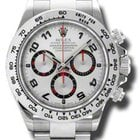 Rolex COSMOGRAPH DAYTONA WHITE GOLD ON BRACELET WHITE &...