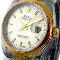 Rolex Datejust Steel / 18k Yellow Gold White Dial 36mm Ref....