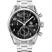 TAG Heuer Carrera 16 Heritage Chronograph Black Dial Steel