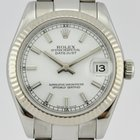 Rolex DATEJUST 178274 LADIES MIDSIZE 31MM 18k WHITE GOLD &...