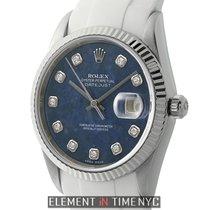 Rolex Datejust Steel & White Gold Bezel 36mm Sodalite...