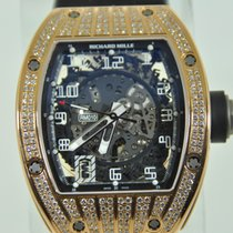 Richard Mille RM010, RM10 Rose Gold Partial Diamond Case