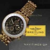 Breitling Navitimer QP 48 Perpetual Chronograph 18k Rose Gold...