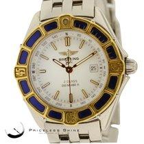 Breitling Lady J 18k Gold Steel Quartz Ladies Watch D52065