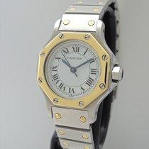Cartier Santos Octagon Automatik Lady -Stahl-Gold 25mm