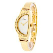 Movado Radius Ladies Mop 18K Gold Swiss Quartz Bangle Watch...