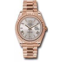 Rolex Day-Date 40 228235 18K Everose Gold 40MM Sundust Roman Dial