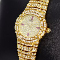 Piaget Tanagra 18k Yellow Gold All Factory Diamond Lady Watch...