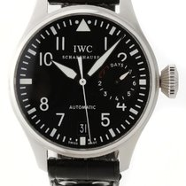 IWC Big Pilot Black Dial Black Leather Straps Automatic Men...