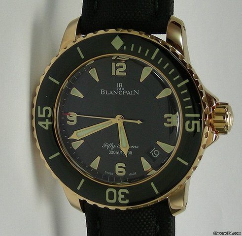 Blancpain Fifty Fathoms Rosgold NEU incl MWST mit Box + Papieren