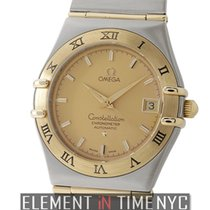 Omega Constellation Steel & Yellow Gold 35mm Champagne...