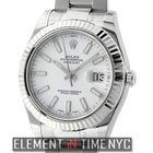 Rolex Datejust II Steel & White Gold 41mm White Index Dial...