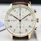 IWC Portuguese Chronograph 18K Rose Gold / Silver Dial