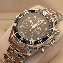 Omega seamaster chronograph 300m bond black dial box papers