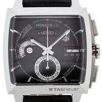 TAG Heuer Monaco LS Automatic Chronograph 40,5 Black Dial Red...