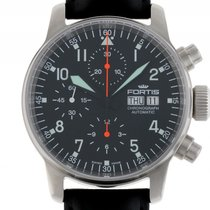 Fortis Flieger Stahl Automatik Chronograph Glasboden Armband...