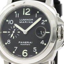 Panerai Polished  Luminor Marina Steel Automatic Mens Watch...