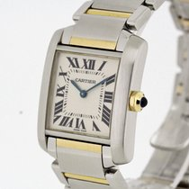 Cartier Tank Francaise Medium Size Stainless Steel Gold 2301 B...