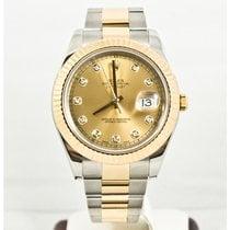 Rolex 41mm Datejust II 116333 Rolex Champagne Diamond Dial