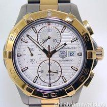TAG Heuer Aquaracer Chronograph CAP2120.BB0834 Two Tone Silver...