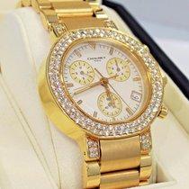 Chaumet Chronograph 40mm 18k Yellow Gold Factory Diamond Bezel...