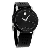 Movado Museum Mens Black Rubber Strap Swiss Quartz Watch 0606507