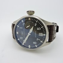 IWC Big Pilot 18K White Gold Mens 7 day Power Reserve Watch...