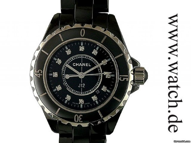 Chanel J 12 Keramik Black Diamond 33mm