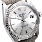 Rolex Mens 1601 Datejust - Silver Stick Dial - Horween Strap
