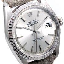 勞力士 (Rolex) Mens 1601 Datejust - Silver Stick Dial - Horween...