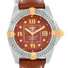 Breitling Cockpit Ladies Steel 18k Yellow Gold Diamond Watch...